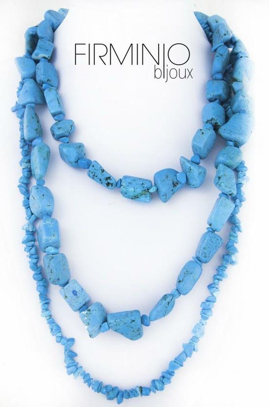 #Collana in pasta di #turchese. #necklace in #turquoise pasta. $110