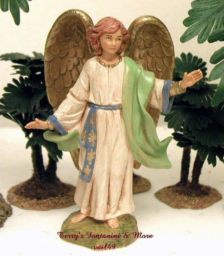 "FONTANINI DEPOSE ITALY 5""RESURRECTION ANGEL 2000 NATIVITY VILLAGE 53506 NEW NOBX #Fontanini"