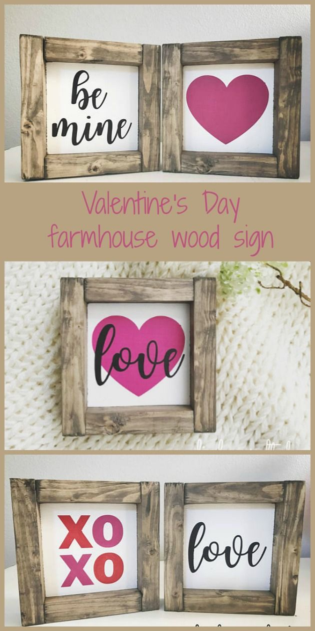 Look I Found This Famrhouse Wood Sign For Valentine S Day On Etsy