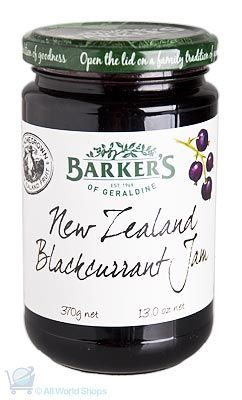 New Zealand Blackcurrant Jam - Barkers - 370g | Shop New Zealand