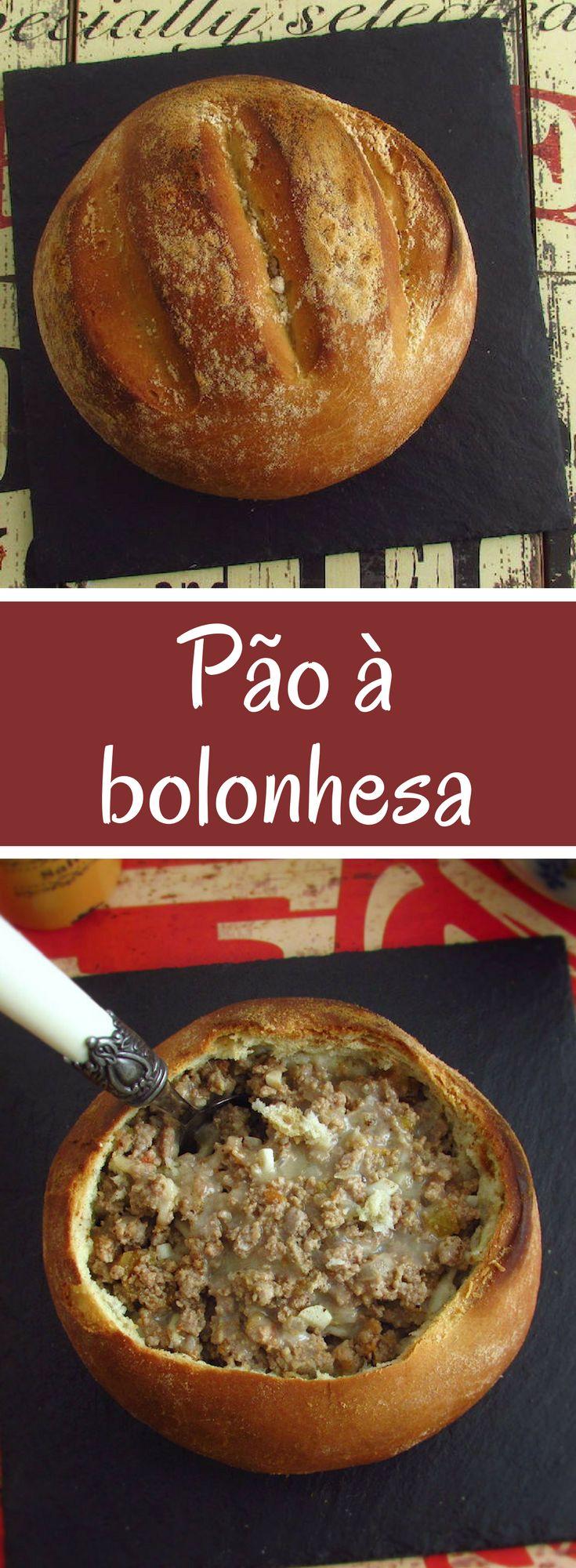Pão à bolonhesa | Food From Portugal. Está a planear um jantar em família? Apresente este pão à bolonhesa, todos vão gostar… #receita #pão