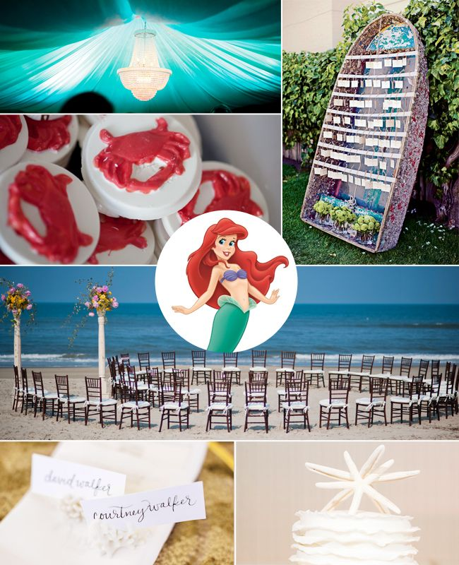 Ariel: What Your Favorite Disney Princess Says About Your Wedding Style / TheKnot.com