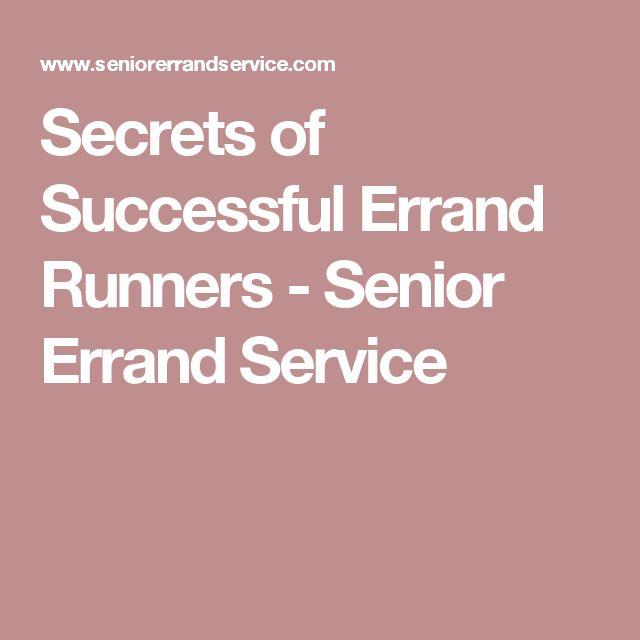 Secrets of Successful Errand Runners - Senior Errand Service