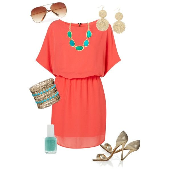 coral summer outfits dress for abbys wedding