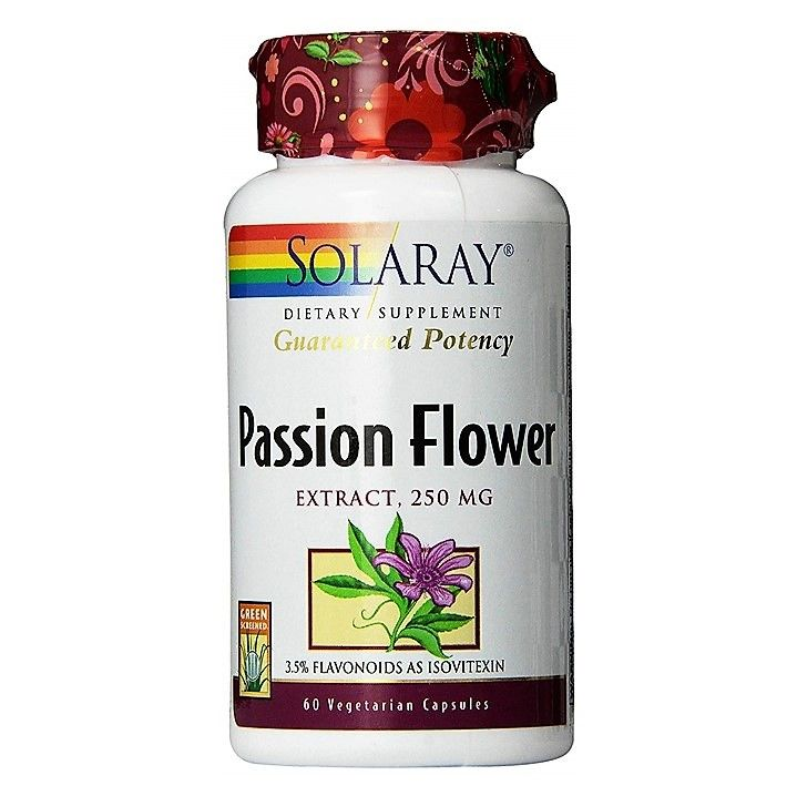 Solaray Passion Flower Extract 250mg 60 Caps Pasiflora 92 900 Alimenticio Nutricion Suplementos Alimenticios
