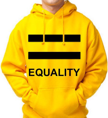 WEDDING GIFT Equality Pride Gold Hoodie Unisex by ForeverLGBTQ