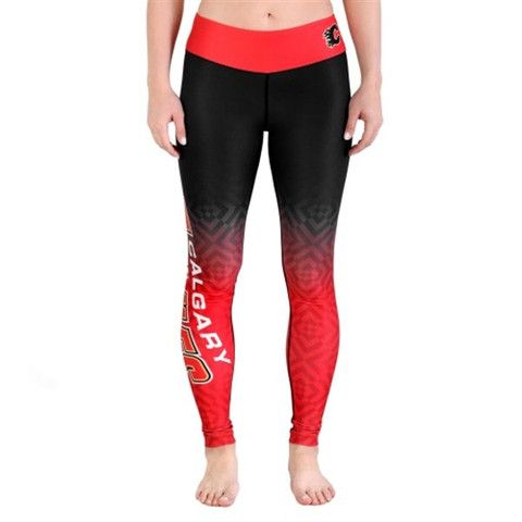 Want these! Calgary Flames Womens Official NHL Gradient Print Leggings