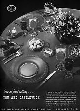 Candlewick Crystal IMPERIAL GLASS Table Setting HEART SHAPED BOWLS 1952 Print Ad