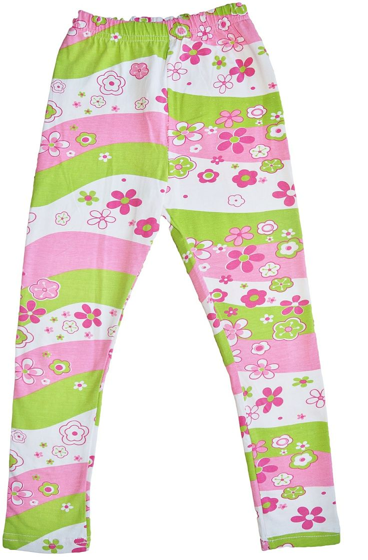 Awesome Pink and Green striped Girls leggings. Only $13.95. Check out our complete range of Girls leggings at www.duckids.com.au