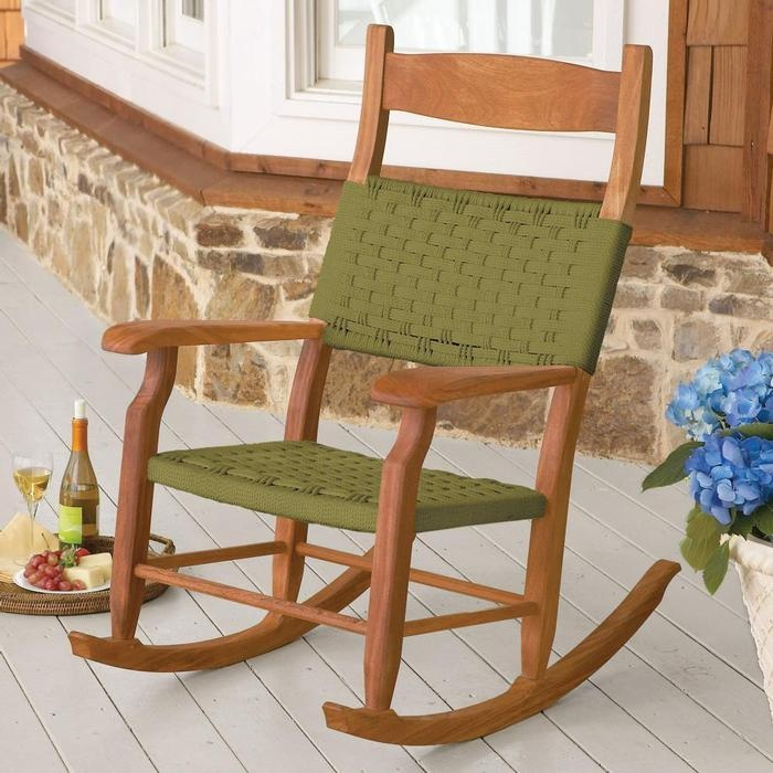 Beautiful Buy Woven Rope Outdoor Rocking Chairs At Brookstone. Our Outdoor Rocking  Chairs Combine The Look And Comfort Of Fine Indoor Furniture With Weather  Resistant ... Awesome Design