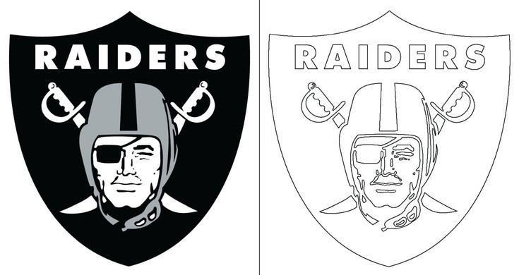 Raiders Logo Coloring Page In 2020 Oakland Raiders Logo