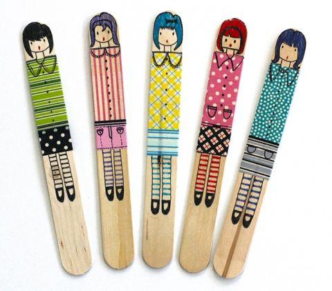 Craft stick dolls