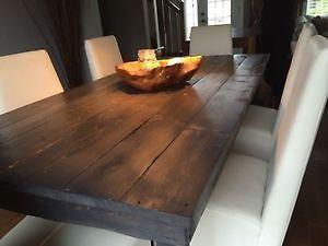 Tables de cuisine en bois de grange plusieurs models for Mobilier salle a manger