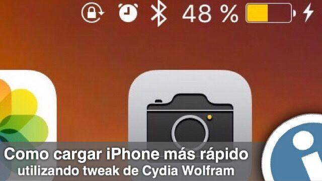 Wolfram – es una función de la carga rápida para iOS. Funciona de la siguiente manera: tan pronto como se conecta el cable de carga para iOS-dispositivo, tweak automáticamente activa en el gadget un modo de ahorro de energía, lo que permite cargar el dispositivo bastante más rápido.