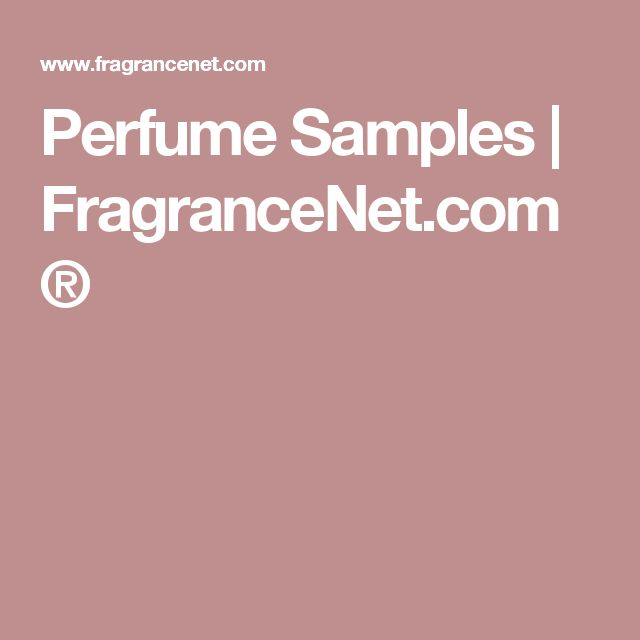 Perfume Samples | FragranceNet.com®