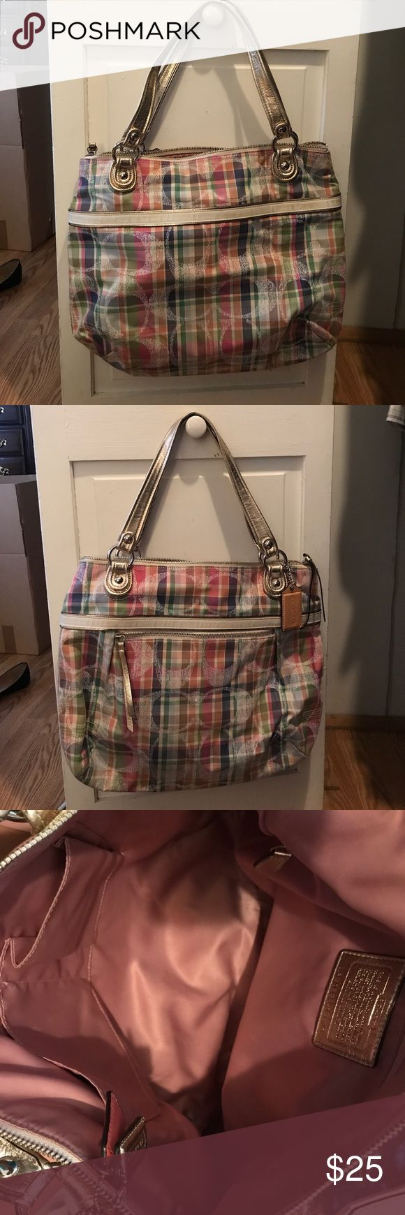 Coach tote bag Coach tote bag. Used once. Great condition. Multicolored Coach Bags Totes