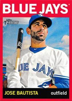 2013 Topps Heritage - Target Red Border Varitions 89 Jose Bautista Toronto Blue Jays Baseball Card