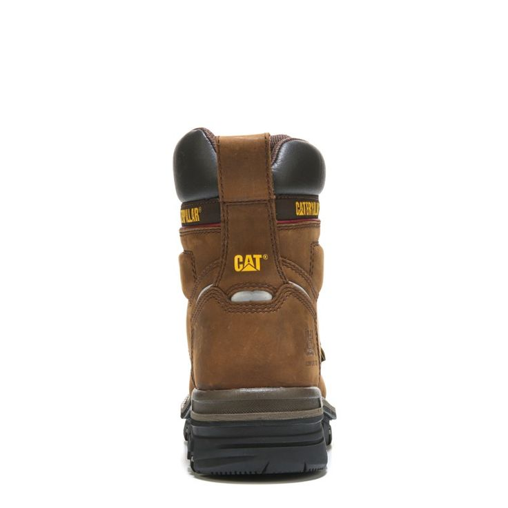 "Caterpillar Men's Rasp 6"" Waterproof Metatarsal Guard Composite Toe Work Boots (Dark Brown Leather)"