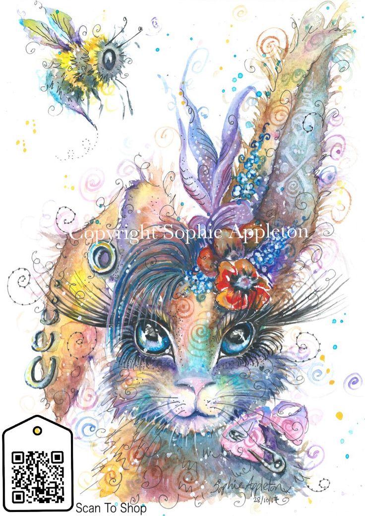 Steampunk Bunny Art print by Sophie Appleton Artist.