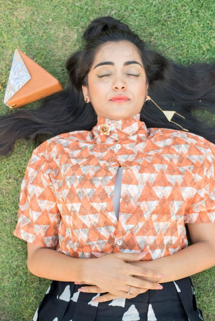 Bhrantini: Orange Triangle Shirt (UNISEX) Buy this from : https://www.instamojo.com/storeuntold/bhrantini-orange-triangle-shirt-unisex/