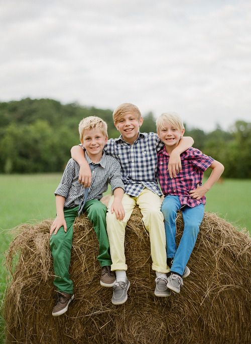 Great boys photo--need one like this of my three sons! Photography by Leslee Mitchell Kids