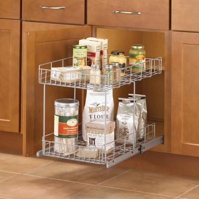 Knape & Vogt - Double-Tiered Wire Roll-Out - HSR15-R-FN - Home Depot CanadaDepot Canada, Laundry Organization, Kitchens Organic, Double Ti Wire, Counter Spaces, Cupboards Organic, Kitchens Cupboards, Kitchens Breakfast Area, Laundry Organic