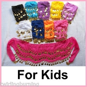 Kids Belly Dancing Coin Belt Hip Scarf.  Fun for a girls birthday party.