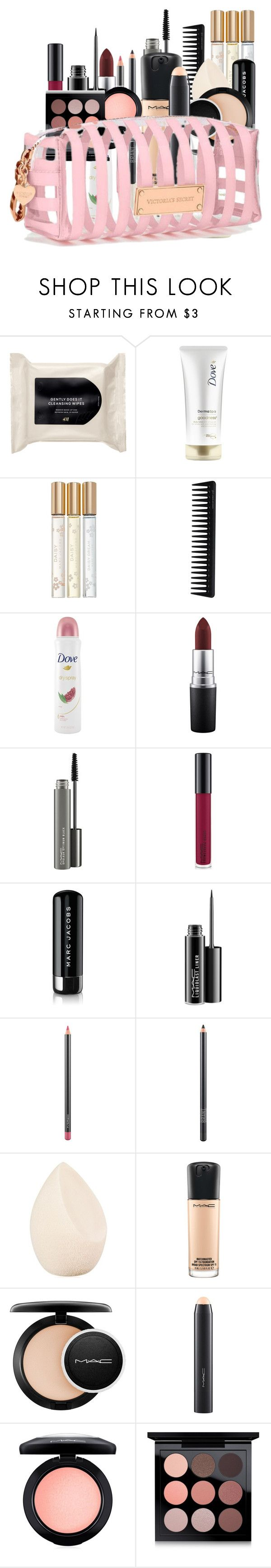 """Make-up Essentials"" by annahlysis on Polyvore featuring beauty, H&M, Dove, Marc Jacobs, GHD, MAC Cosmetics, Christian Dior and Victoria's Secret"