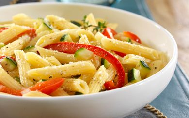 Barilla Mezze Penne with Bell Peppers & Zucchini