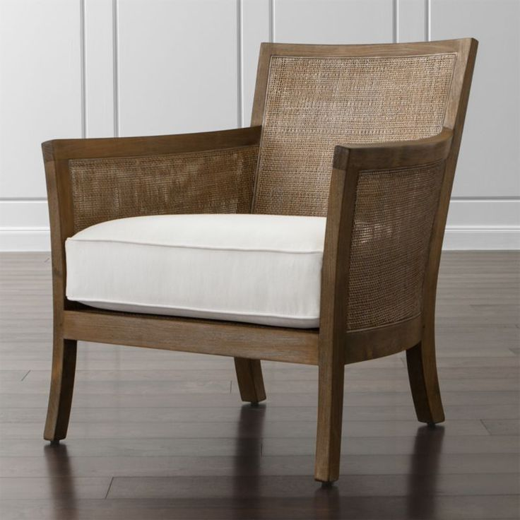 Blake Grey Wash Chair With Fabric Cushion Crate And