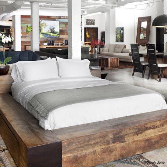 driftwood bed frame