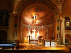 pictures of inside immaculate conception memphis, tn - roman architecture