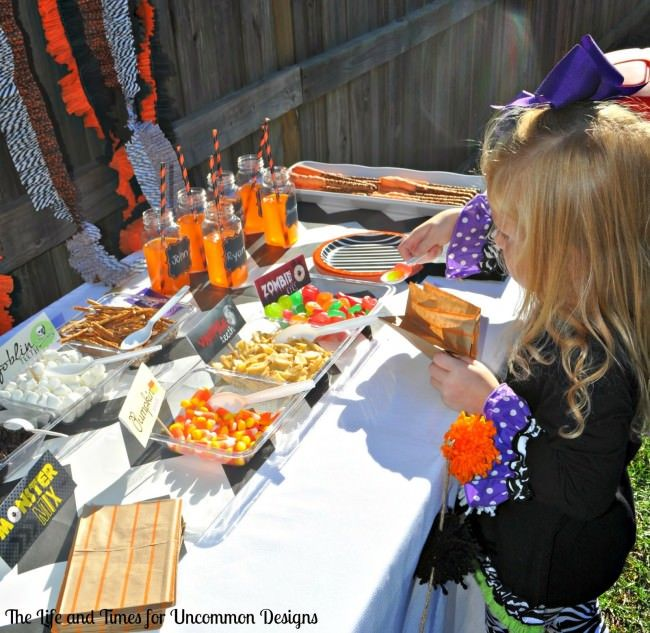 Throw a pumpkin painting party  this Fall!  via Uncommon Designs