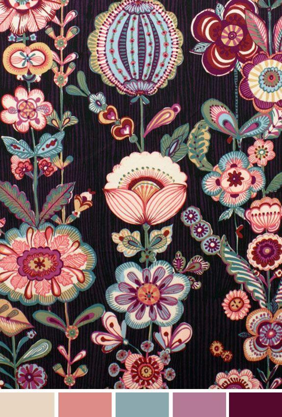 Achados da Bia   Inspiração do Dia   Flores   AH Fabrics