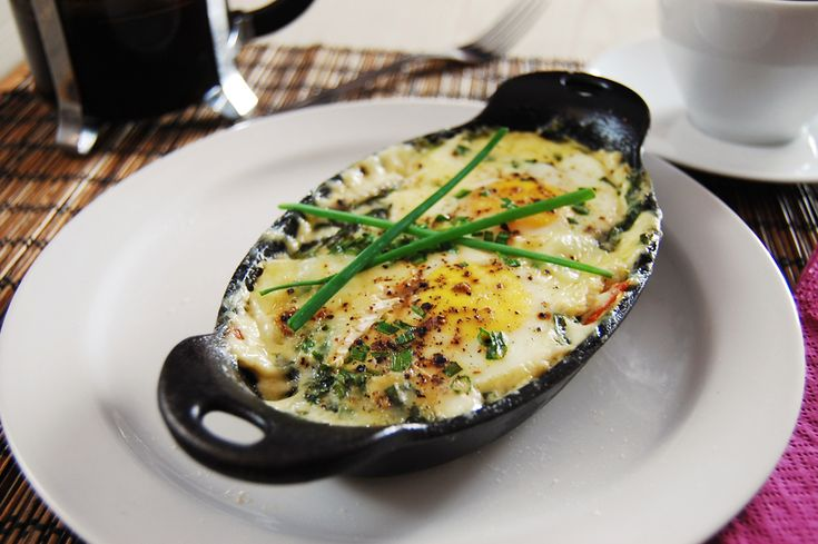 Shirred Eggs with Smoked Salmon   KneadForFood - Food Blog Recipes