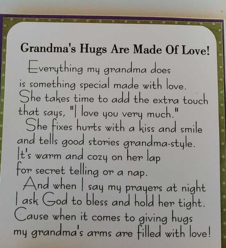 quotes  and photos about grandson | G8 country life: Grandma's Hugs Card