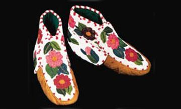 Métis Moccasins with beadwork