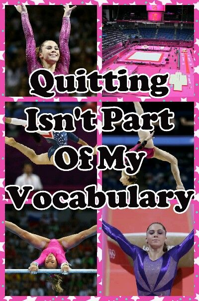 Quiting is a bad word!You never say that because anything is possible