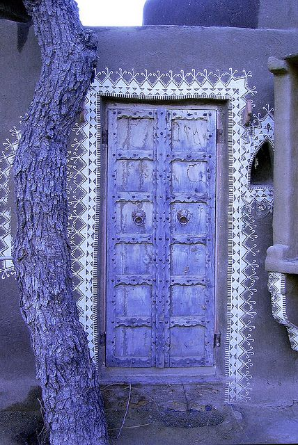 Mandawa puple door ~ Rajasthan, India