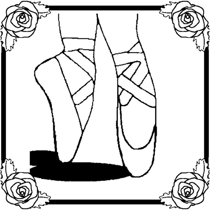 Princess Ballet Shoes Coloring