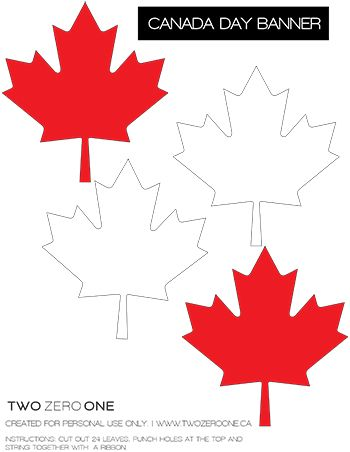 Canada Day Printable ~~ http://twozeroone.ca/item/canada-day FREE PDFs downloads~~