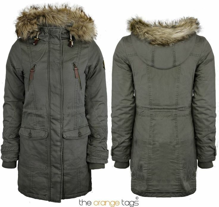 NEW WOMENS THICKWARM FAUR FUR HOODED OVERCOAT LADIES PARKA JACKET COAT