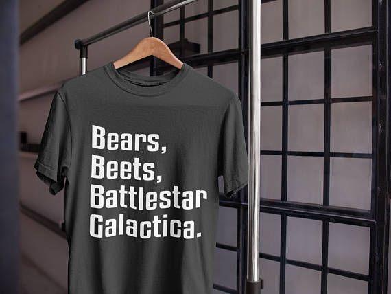 Expression Tees Bears Beets Battlestar Galactica Mens T-Shirt