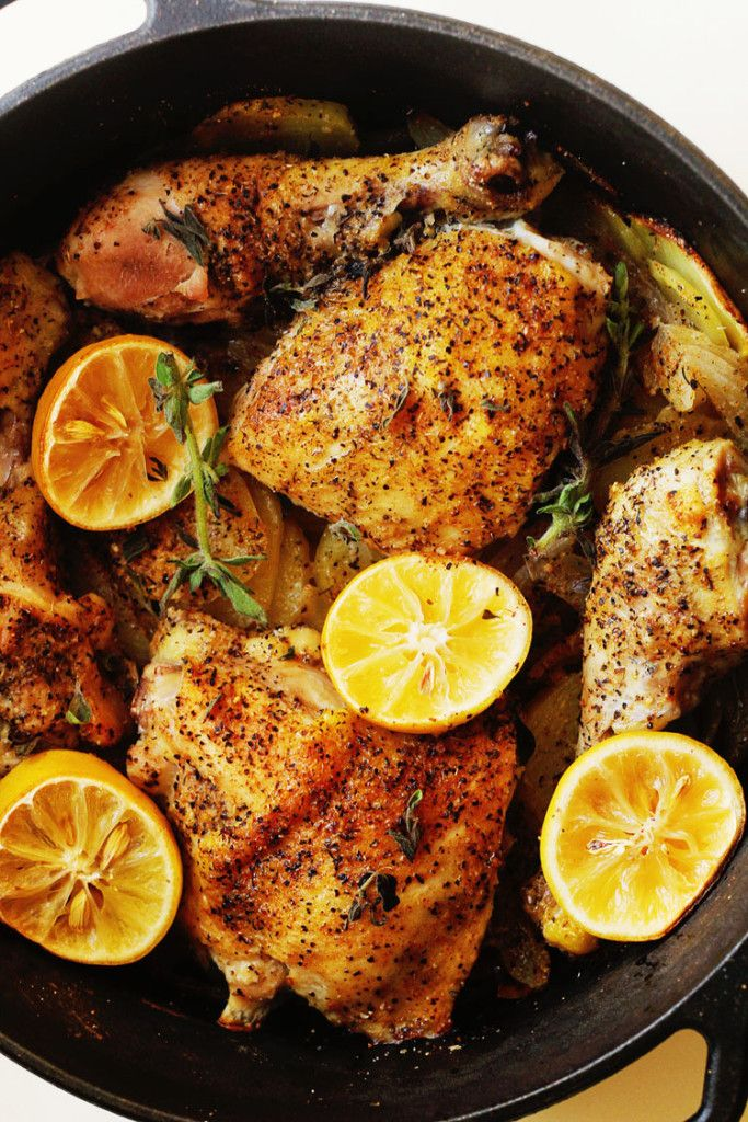 Lemon Roasted Chicken and Potatoes | Grandbaby Cakes