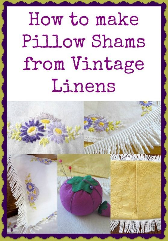 Making Pillow Shams from Vintage Linens a very easy tutorial  http://ebay.to/186Fzd7