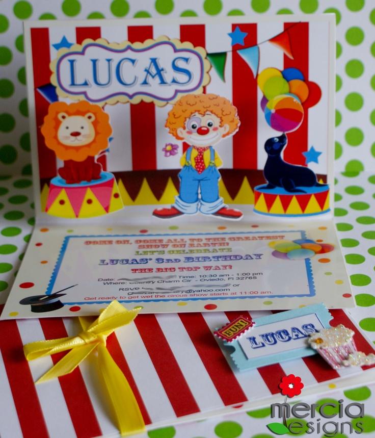 Best Circus Invites Images On   Invites