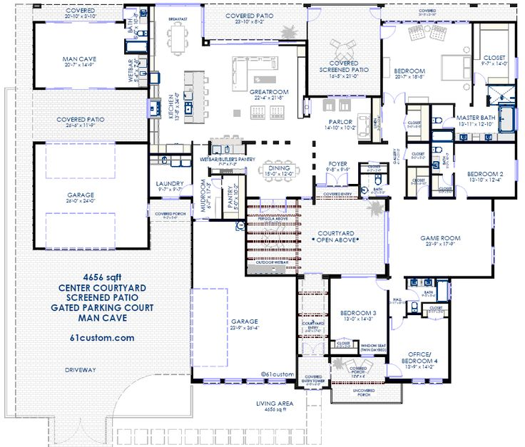 38 best Modern House Plans   61custom images on Pinterest   Modern ...