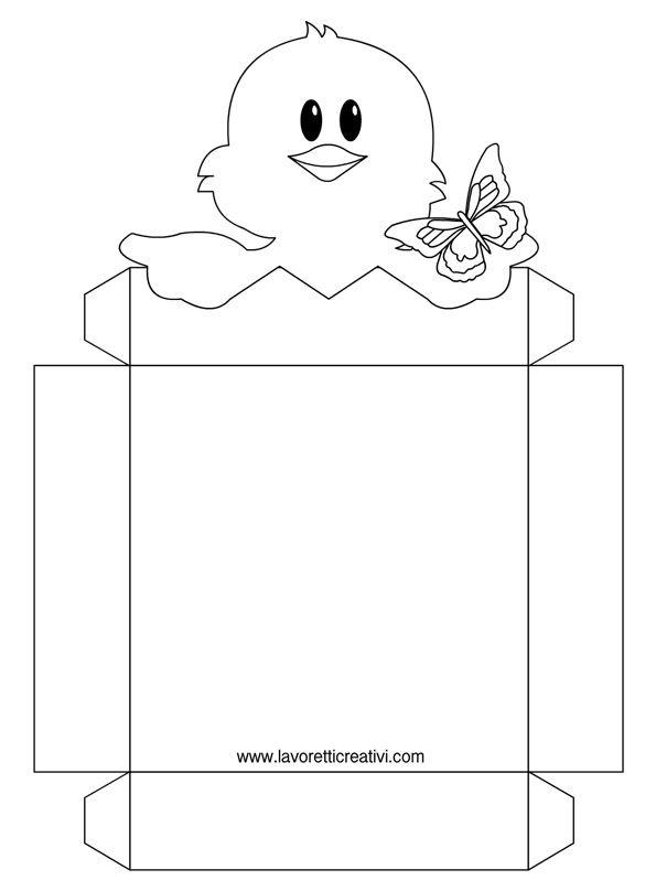 PORTA OVETTI DI PASQUA FAI DA TE Cestini di Pasqua porta ovetti nelle versioni a colori e da colorare pronti da stampare. Materiale: pennarelli o matite co