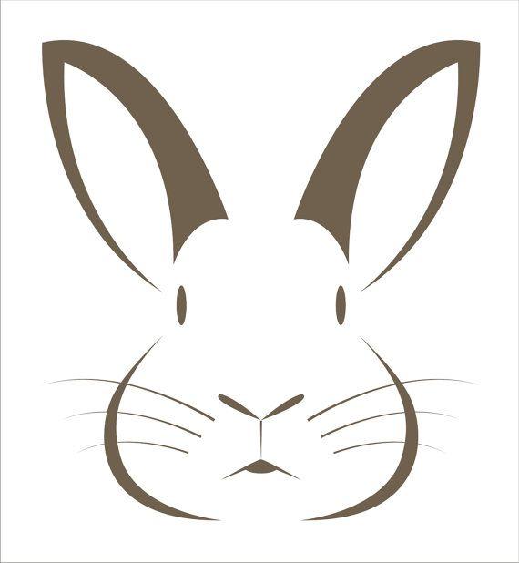 Bunny lapin gabarit 2 pc - taille 6 options-créer vos propres paniers de Pâques Pâques signes