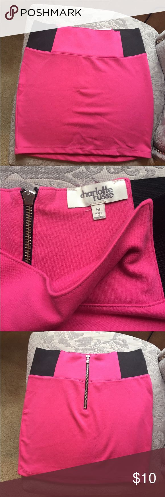 Hot Pink Charlotte Russe Bandeau Skirt This is super cute and comfortable bandeau skirt perfect for a night out with your girls! In good condition! Charlotte Russe Skirts Mini